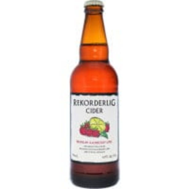 Rekorderlig premium cider raspberry & lime offer at $5