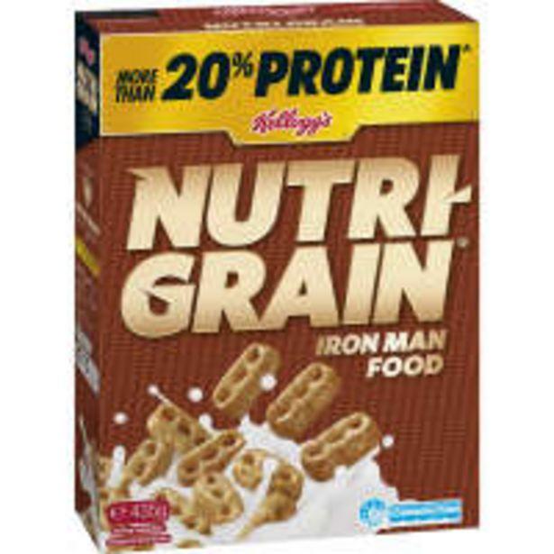 Kelloggs nutrigrain protein breakfast cereal offer at $5