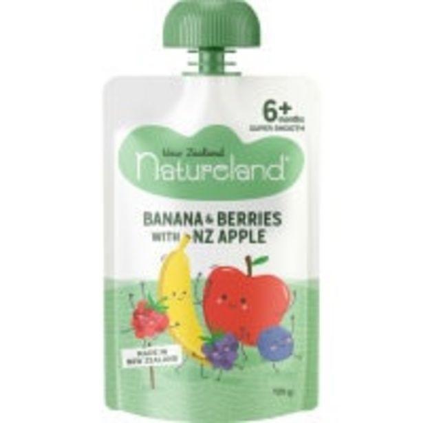 Natureland baby food banana custard offer at $1.8