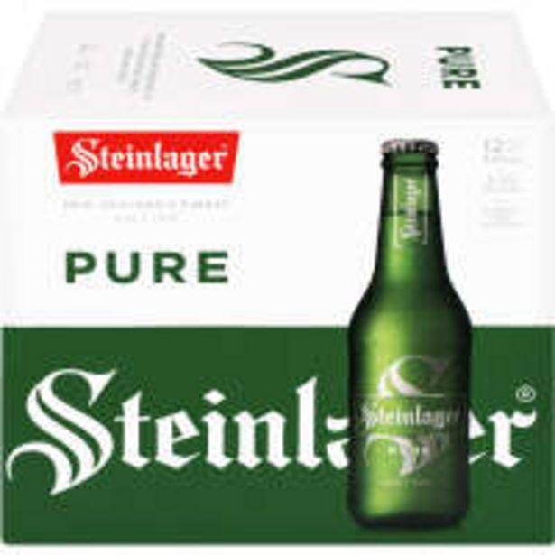 Steinlager pure beer offer at $21