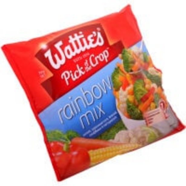 Wattie's mixed vegetables rainbow mix offer at $4