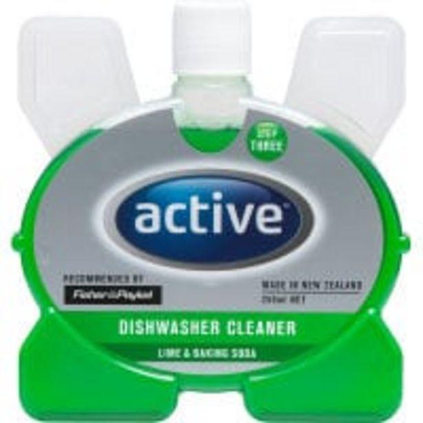 Active dishwasher cleaner lime & baking soda offer at $5