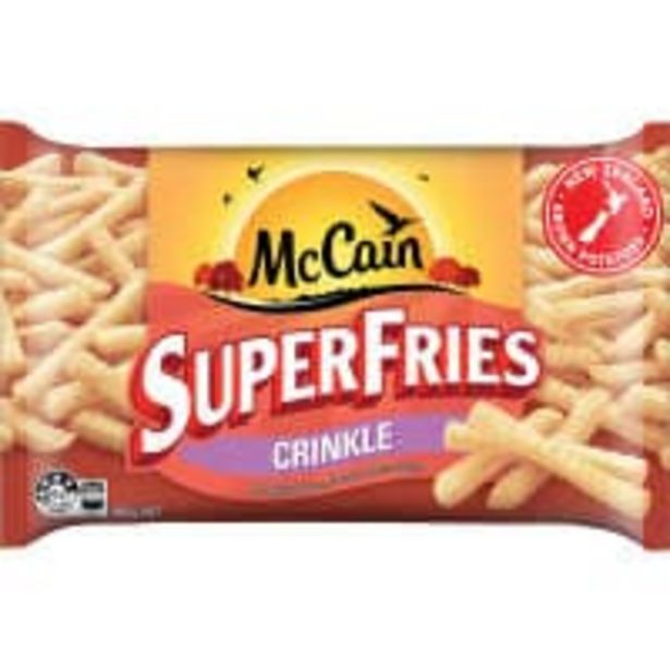 Mccain superfries fries crinkle cut offer at $2.7