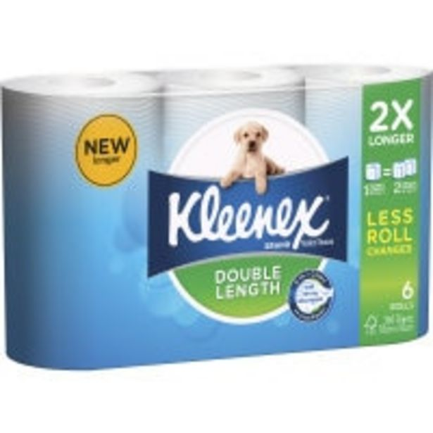 Kleenex toilet paper  6pk double length offer at $7