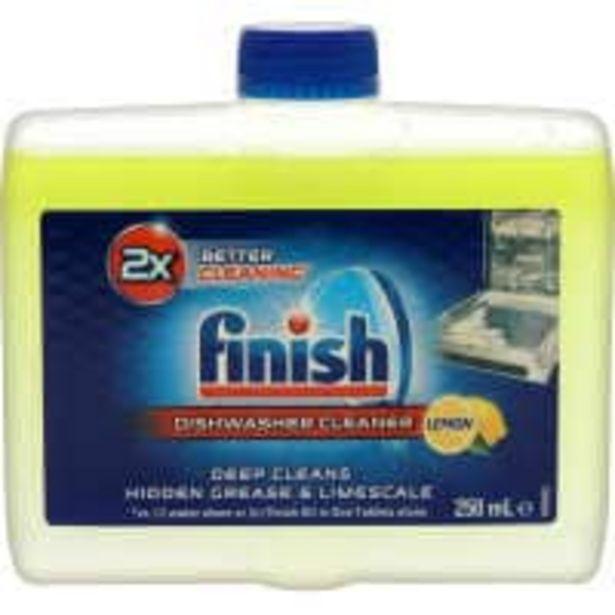 Finish dishwasher cleaner lemon - dual action offer at $6