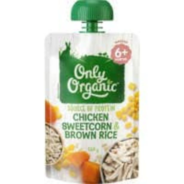 Only organic baby food chicken sweetcorn offer at $1.99
