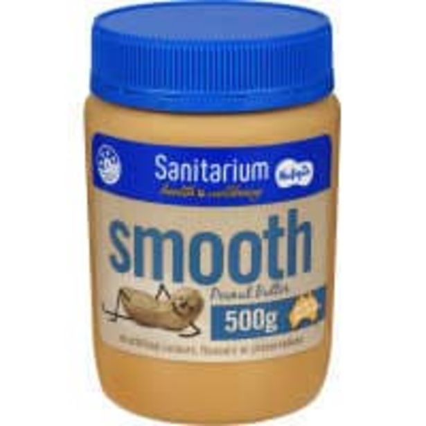 Sanitarium peanut butter smooth offer at $4