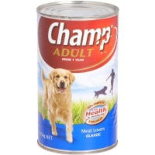 Champ dog food lamb casserole & vegetable offer at $3.5