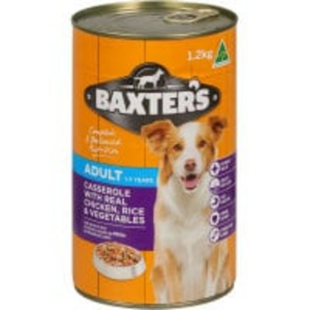 Baxters dog food chicken rice & vegetable offer at $3.5