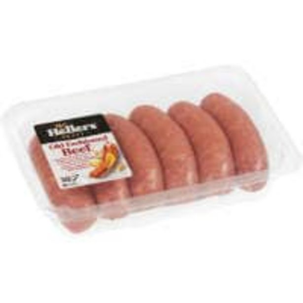 Hellers sausages old fashioned beef offer at $8
