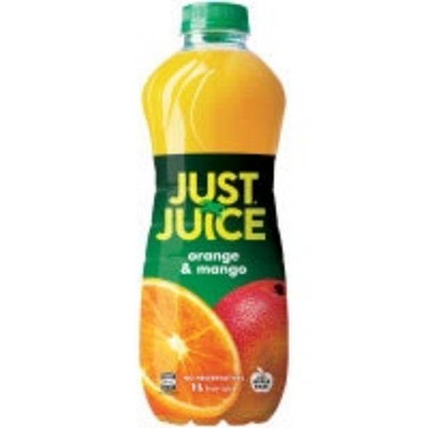 Just juice fruit juice orange & mango offer at $1.7
