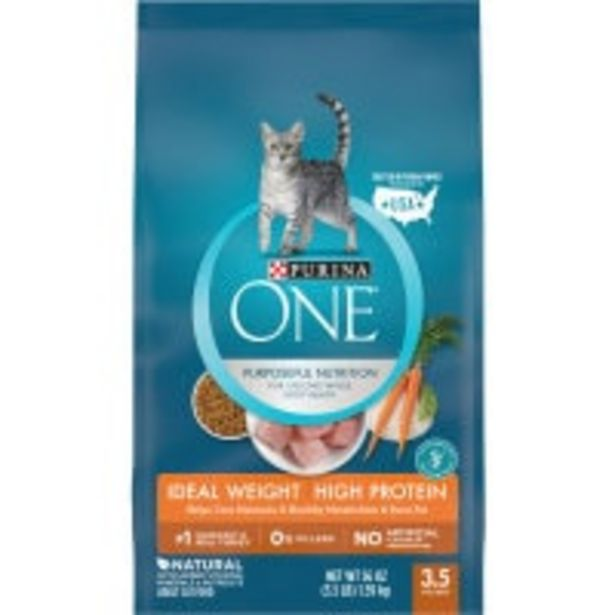 Purina one dry cat food healthy metabolism offer at $16