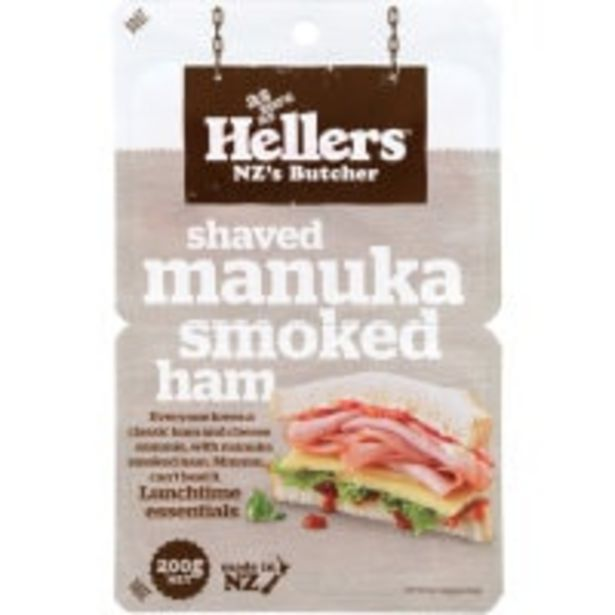 Hellers ham shaved manuka smoked offer at $6