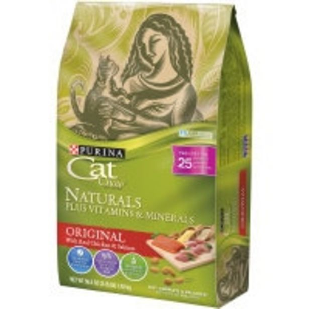Purina cat chow dry cat food naturals offer at $11