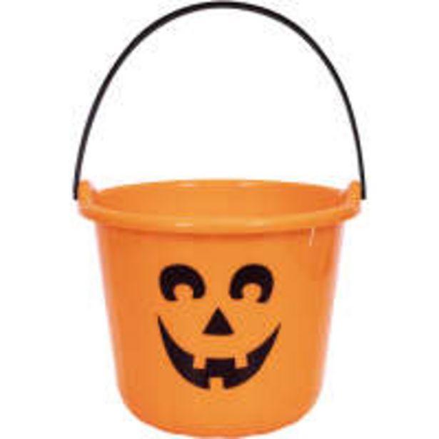 Halloween orange pail offer at $2