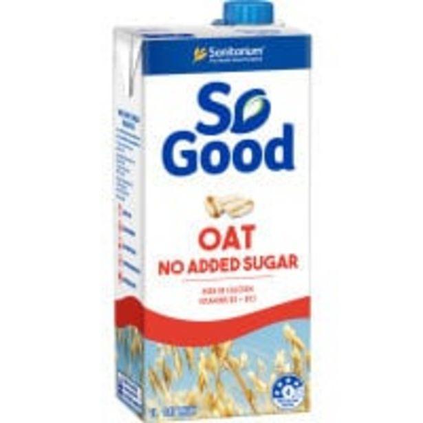 Sanitarium so good oat milk no added sugar offer at $3.3