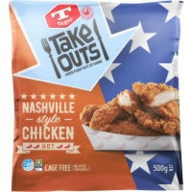 Tegel take outs chicken tenders nashville style offer at $11