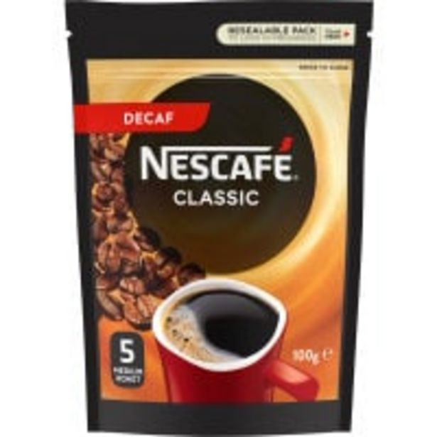 Nescafe coffee classic decaf offer at $5