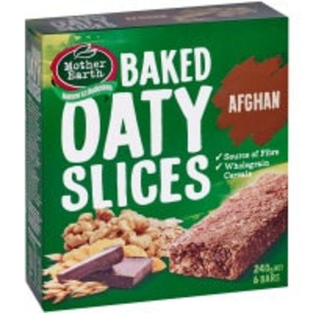 Mother earth oaty slices muesli bars afghan 240g offer at $3