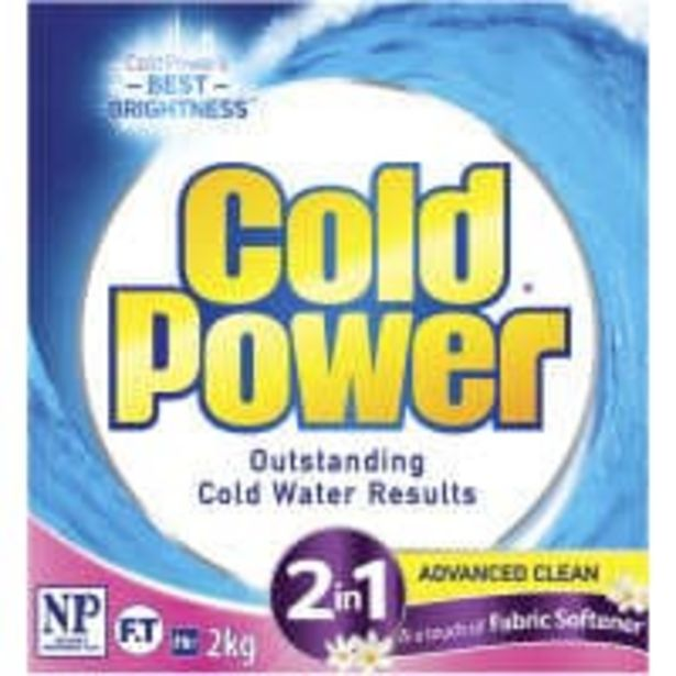Cold power front & top laundry powder ultra 2in1 softener offer at $5