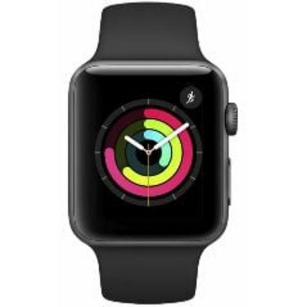 Apple Watch Series 3 GPS, 42mm Space Grey Aluminium Case with Grey Sport Band offer at $399