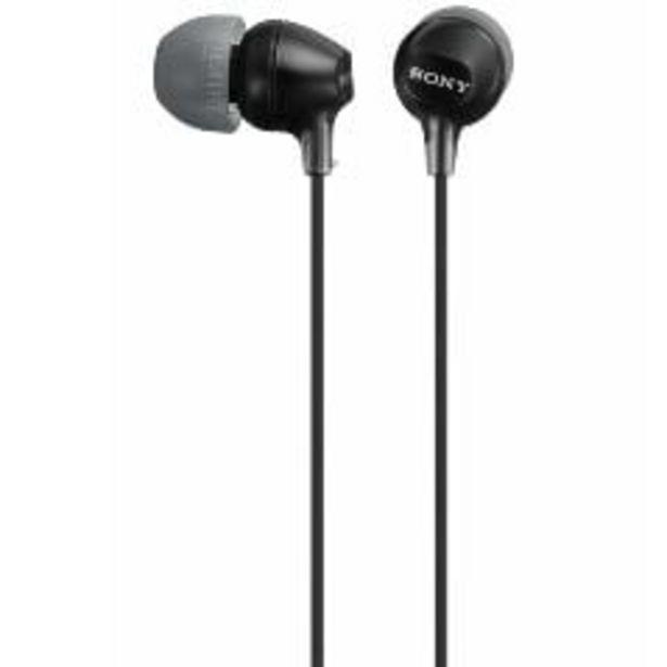 Sony In Ear Lightweight Headphones - Black offer at $19.99