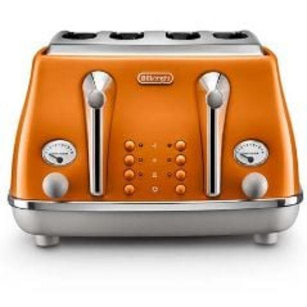 Delonghi Icona Capitals 4 Slice Toaster Rome Orange offer at $179