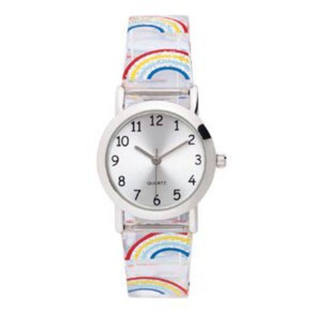 Little Tix Time Teacher Analogue Watch Giltter Rainbow offer at $20