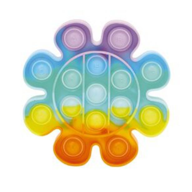 Fidget Pop-It Flower Rainbow offer at $10