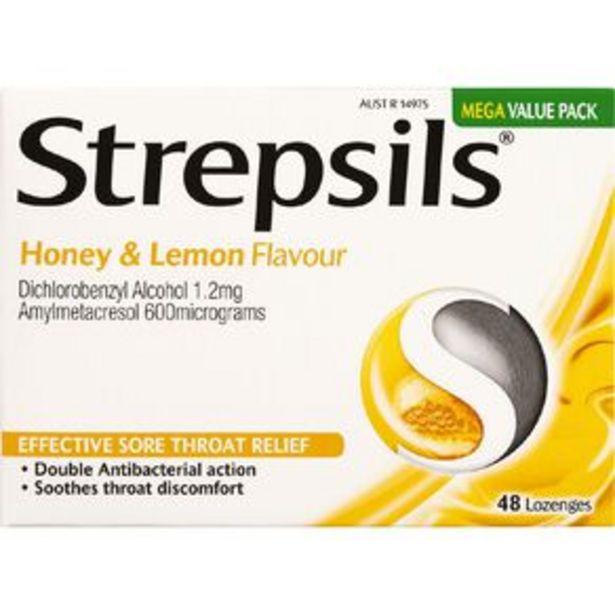 Strepsils Sore Throat Honey and Lemon 48s offer at $16