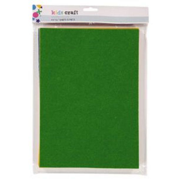 Kookie Felt Sheet 10 Pack Multi-Coloured A4 offer at $5.99