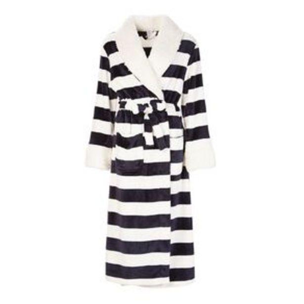 H&H Women's Stripe Coral Fleece Robe offer at $35