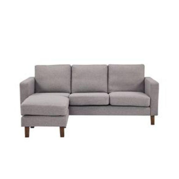 Living & Co Tulsa 3 Seater Corner Sofa with Chaise Grey offer at $499