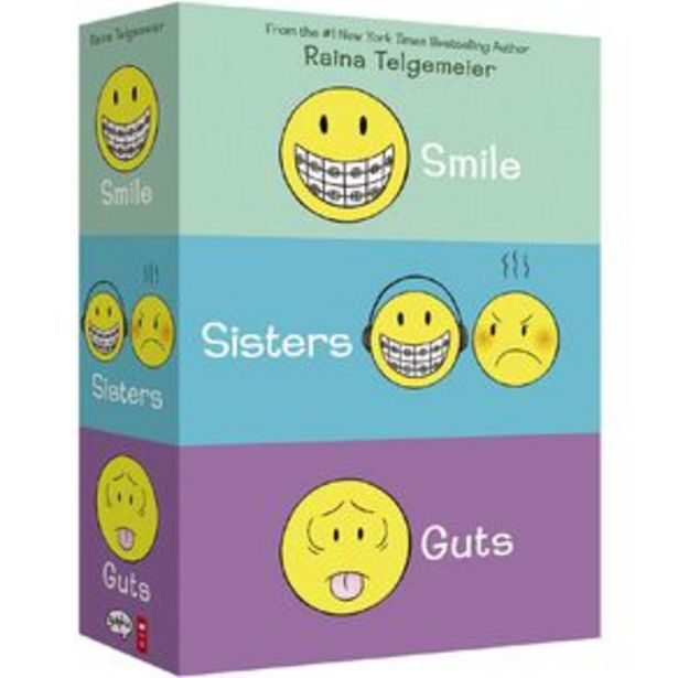 Smile Sisters & Guts: The Box Set by Raina Telgemeier offer at $36