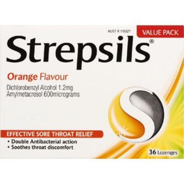 Strepsils Orange Lozenges 36 Pack offer at $13.5