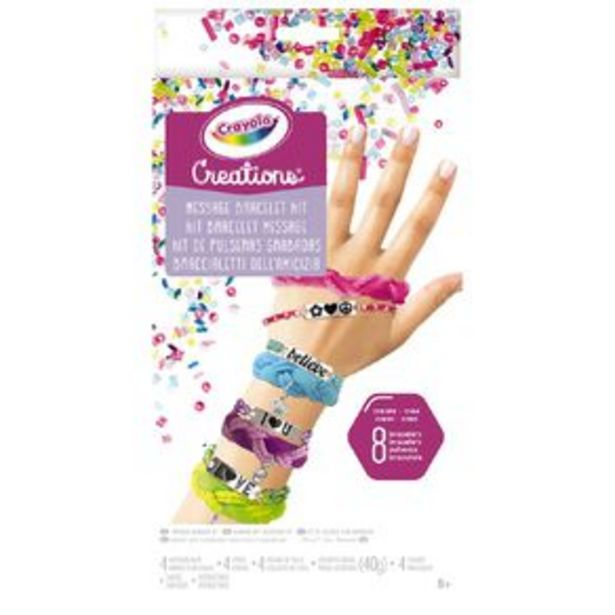 Crayola Creations Message Bracelet Kit offer at $17.99