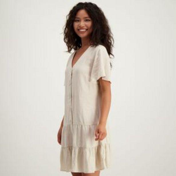H&H Women's Linen Blend Tiered Mini Dress offer at $35