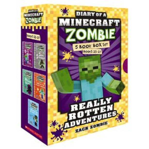 Diary of Minecraft Zombie: 5 Book Box Set by Zack Zombie offer at $49