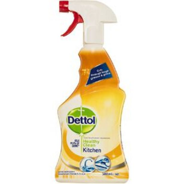 Dettol Antibacterial Healthy Clean Kitchen Spray 500ml offer at $4.5
