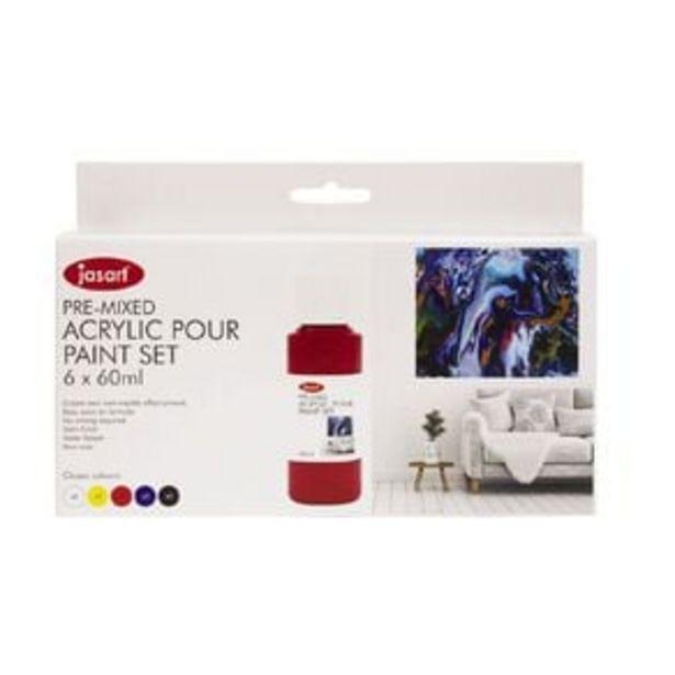 Jasart Acrylic Pour Paint 60ml Set 6 offer at $19.99