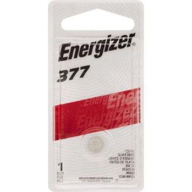 Energizer Silver Oxide Watch Battery 377BP1 1.5 Volt offer at $5