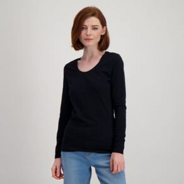 H&H Long Sleeve Scoop Neck Top offer at $9
