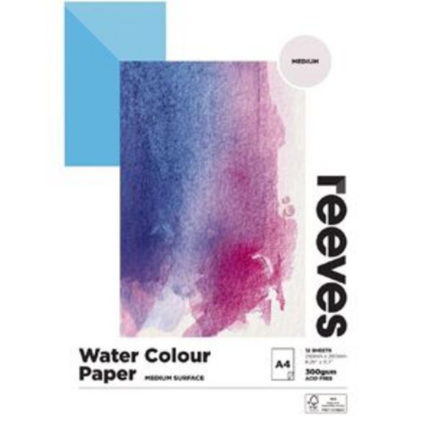 Reeves Water Colour Pad A4 offer at $14.99
