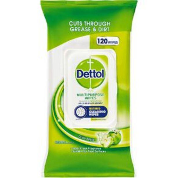 Dettol Antibacterial Multipurpose Cleaning Wipes Crisp Apple 120 Pack offer at $9