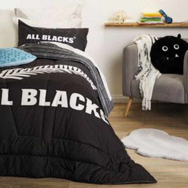 All Blacks Comforter Set Black King Single offer at $33.98