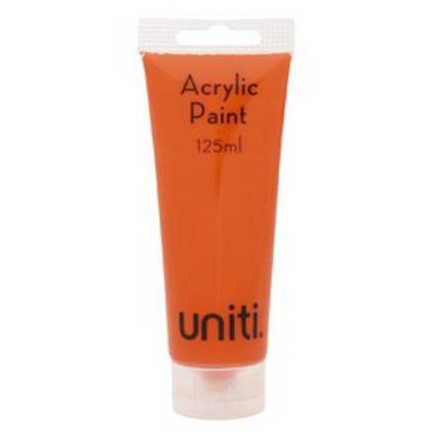Uniti Acrylic Tube Orange 125ml offer at $3.99