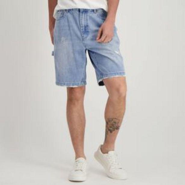 Garage Men's Denim Carpenter Shorts offer at $2.97
