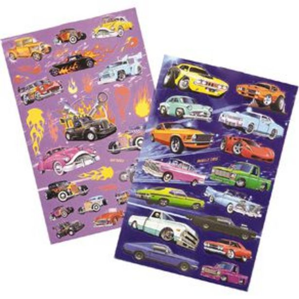 Kookie Sticker Book 6 Page Custom Cars offer at $3.99