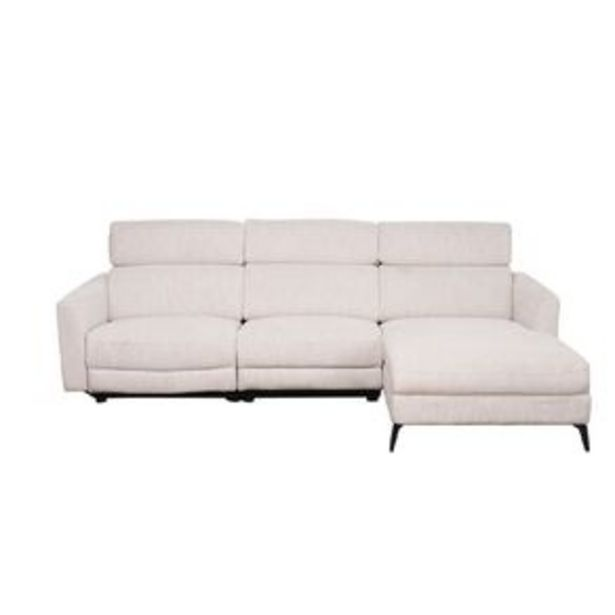 Living & Co Cambridge 3 Seater Chaise Sofa with Electric Recliner offer at $1499
