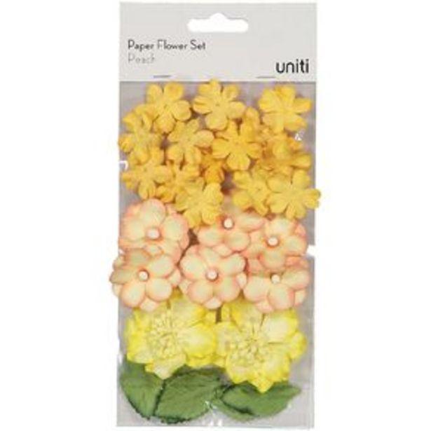 Uniti Paper Flower Set Peach offer at $6.99